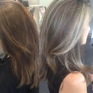 going gray from light golden brown hair with highlights 25 best ideas about silver highlights on pinterest gray