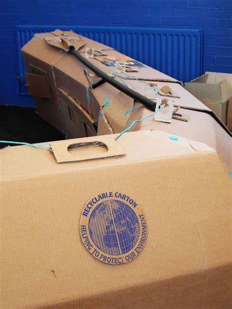 cardboard lifeboat the cardboard challenge boat on behance