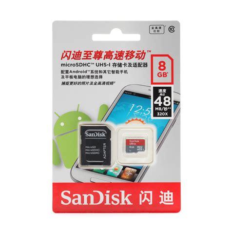 Micro Sd Sandisk 8 Gb sandisk carte microsd 8gb xiaomi