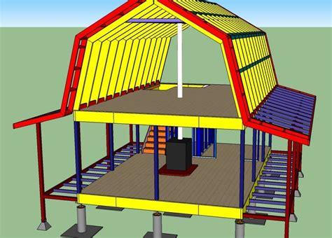 gambrel roof design gambrel roof cabin 16x24 weekend retreat pinterest gambrel gambrel roof and cabin
