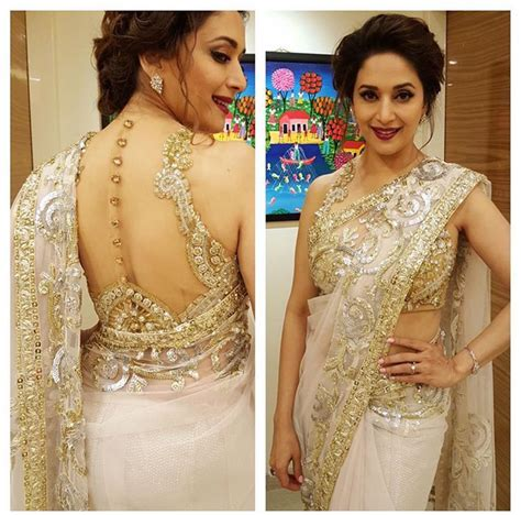 madhui dixit latest updo and hair styles madhuri dixit nene in abusandeep at filmfare awards