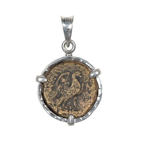 sterling silver ancient coin pendant ancient