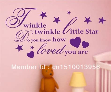 Twinkle Twinkle Little Star Wall Stickers rhyming quotes reviews online shopping rhyming quotes