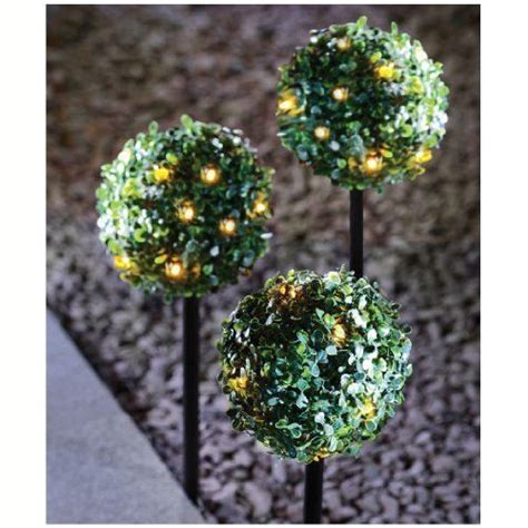 artificial topiary balls with solar lights 3x artificial led topiary ball boxus boxwood hanging