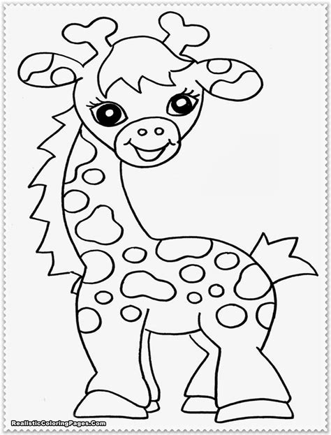 free safari animals coloring pages