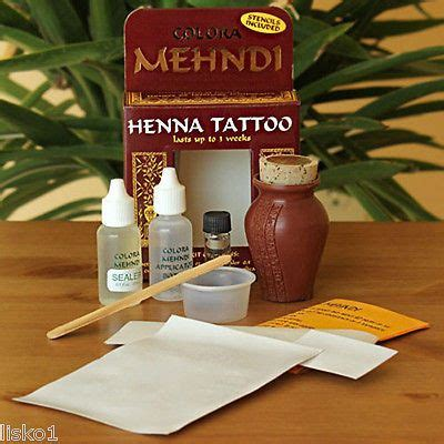 colora mehndi henna temporary tattoo kit with stencils 25 best ideas about henna kit on