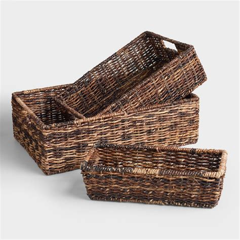 Wicker Kitchen Furniture by Madras Storage Baskets World Market