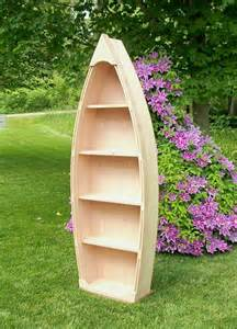 6 ft unfinished row boat shelf bookshelf bookcase crafted
