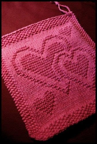 crochet pattern heart dishcloth heart knitted dishcloth hand work pinterest