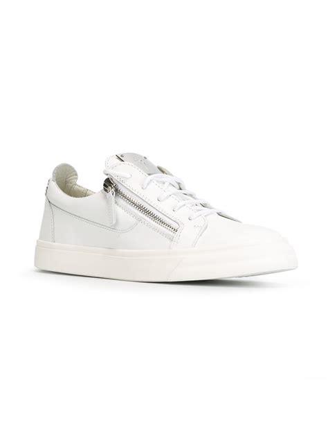 giuseppe zanotti frankie low sneakers in white for