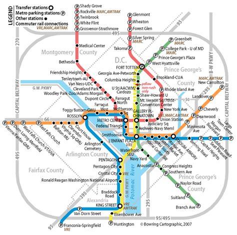 washington dc transit map pdf usa 2007