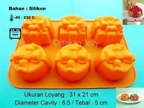 Cetakan Silikon Puding Kue Gift cetakan silikon puding kue gift 6 cavity ii cetakan jelly cetakan jelly