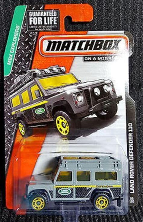 Matchbox Land Rover Defender 110 Superfast Grey 2016 matchbox 78 s w a t truck grey swat mbx