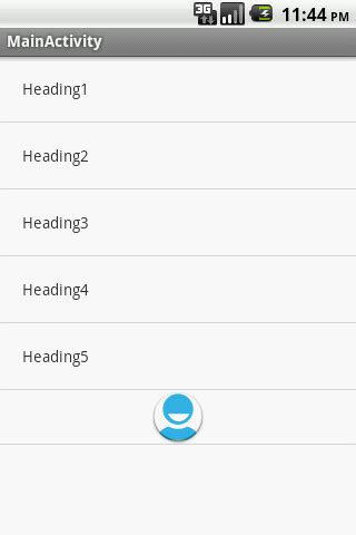 layout inflater service android cant see my footer with listactivity stack