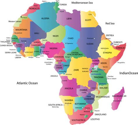 africa countries and capitals map puzzle map of africa with countries and capitals classe de