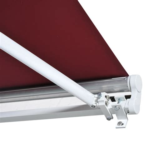 awning manual outsunny 158 quot manual retractable patio sun shade awning