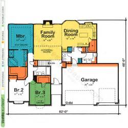 Floor Plans For Single Story Homes One Story House Amp Home Floor Plans