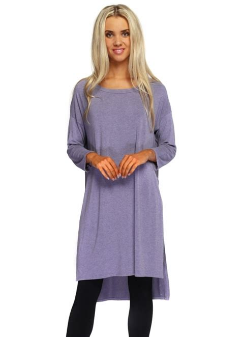 Flavia Top a postcard from brighton violet flavia slouch top