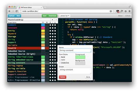 tmtheme editor herokuapp github jasonm23 tmtheme editor color scheme editor for