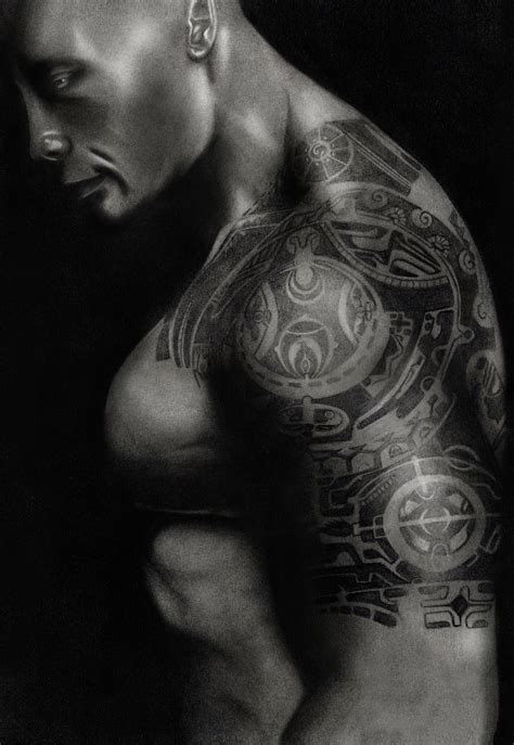 dwayne johnson tattoo sketch meaning of dwayne brown the rock body tattoo male models