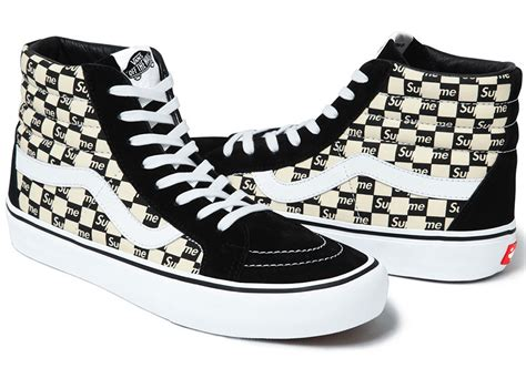 Vans Authentic Checkerboard X Supreme White supreme x vans checkerboard pack sneaker bar detroit