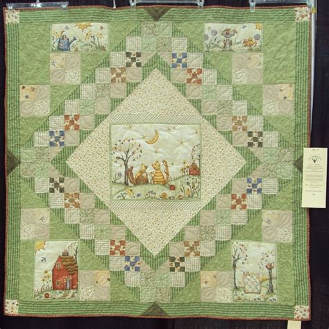 quilt using parts of a panel idea quilt