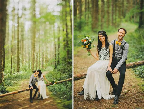 a magical elopement in the woods green wedding shoes elopement in the woods
