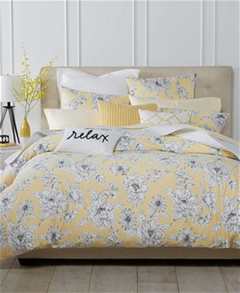Home Design Comforter Macy S Charter Club Damask Designs Butter Floral Bedding