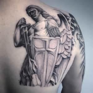angel tattoo shoulder blade of man ideas tattoo designs