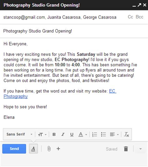 Gmail: Sending Email