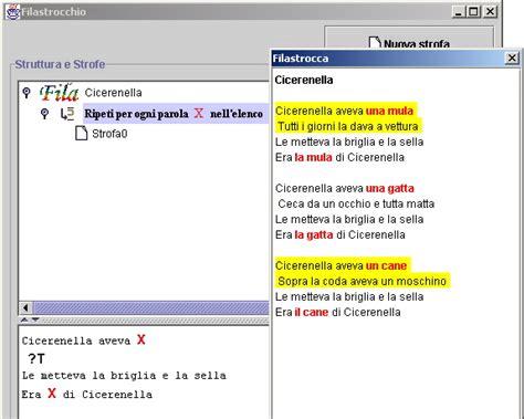 cicerenella testo programma per la generazione di filastrocche