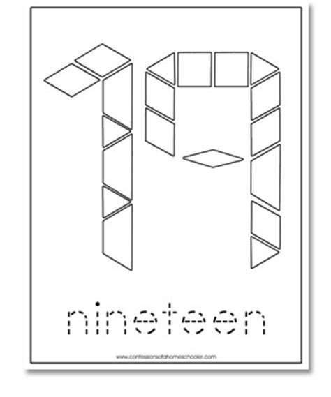 numbers with pattern blocks 1 20 free b w pattern block cards confessions of a