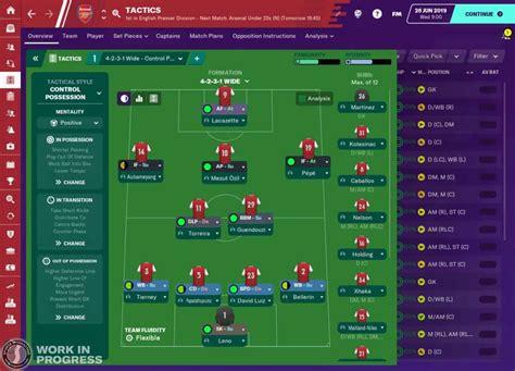 football manager   partenariat inedit avec arsenal