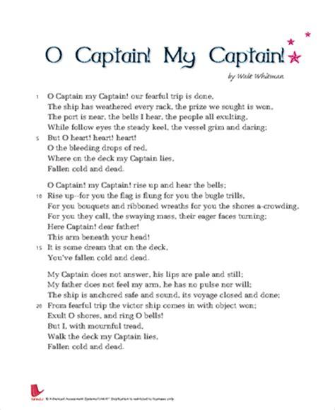 O Captain My Captain Essay essay o captain my captain