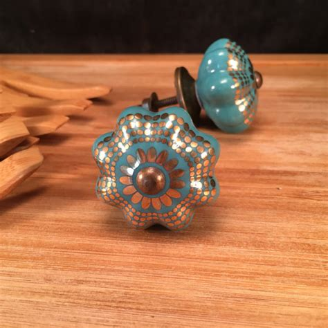 Decorative Drawer Pulls And Knobs by Decorative Turquoise Ceramic Knobs Drawer Pulls By
