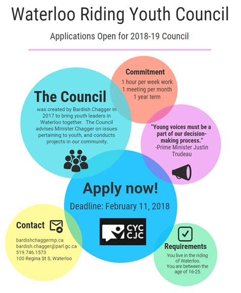 St S Mba Application Deadline by Applications Open For Waterloo Youth Council