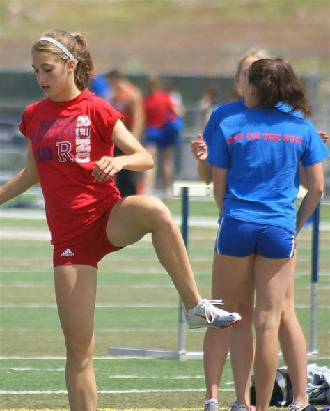 Candid Hs Girls Track Shorts