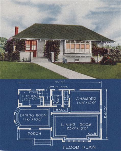 1921 Bungalow Cottage Hip Roof Simple 1 Bedroom Home Basic House Plans Hip Roof
