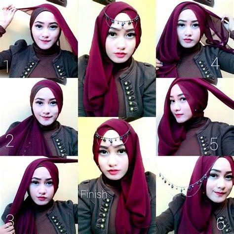video tutorial hijab segi tiga simple easy jeweled hijab tutorial for special occasions collar