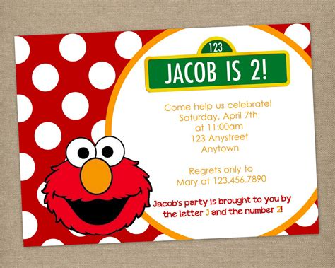 elmo template for invitations 8 best images of elmo birthday invitations printable