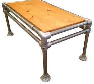 reclaimed wood coffee table industrial galvanized pipe