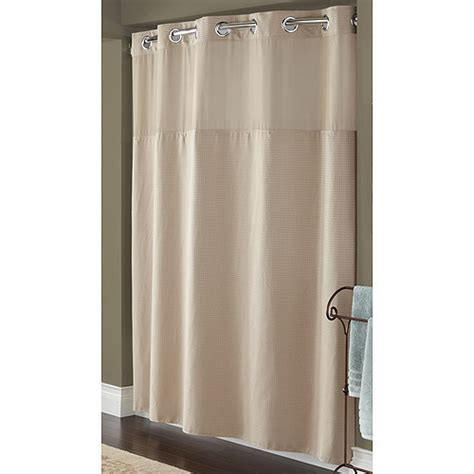 hookless shower curtain walmart hookless taupe diamond pique mystery polyester shower