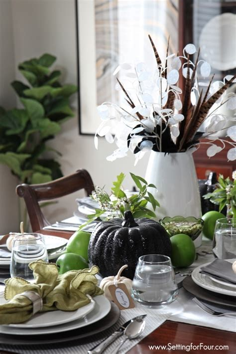 easy fall table centerpieces easy fall table centerpiece setting for four