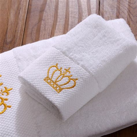 gold pattern bath towels cozzy 2016 new white plush cotton hotel bathroom towels