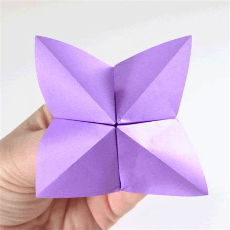 Folded Paper Fortune Teller - origami fortune teller cake ideas and designs