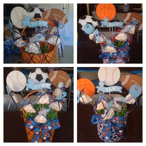 sports themed decorations sports theme babyshower centerpiece ideas