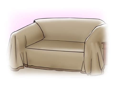 how to make sofa slipcover how to make a sofa slipcover with pictures wikihow