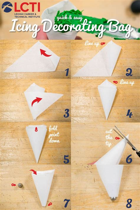 How To Make Parchment Paper Bags - and easy icing decorating bag made our of parchment