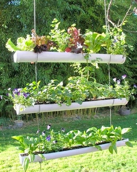 12 Original Pvc Pipe Planter Ideas For Your Garden Pvc Pipe Vegetable Garden