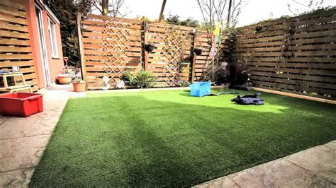 how to grow grass in backyard diy how to lay an artificial grass lawn turf timelapse